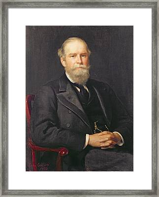 Portrait Of Sir John Lubbock 1834-1913, 1st Baron Avebury Oil On Canvas Framed Print by John Collier