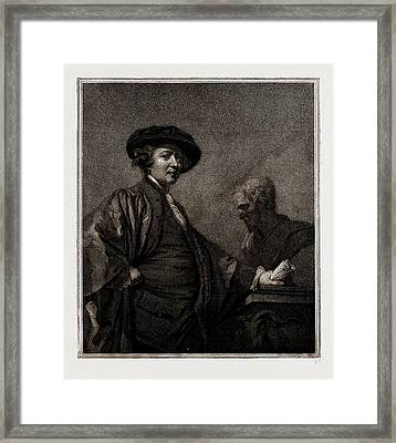 Portrait Of Sir Joshua Reynolds, Painted By Himself Framed Print by Litz Collection