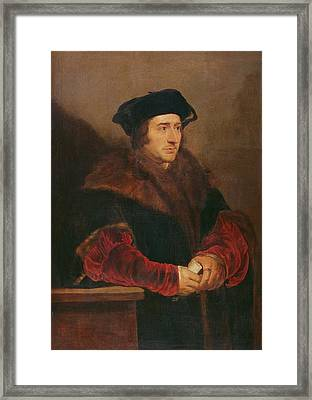 Portrait Of Sir Thomas More Oil On Canvas Framed Print