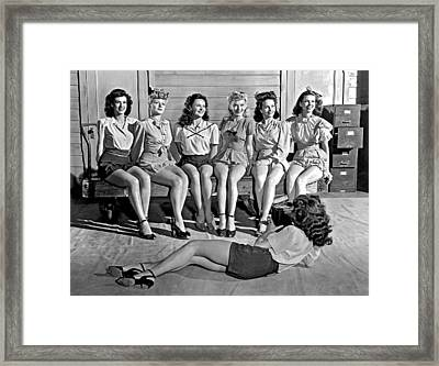 Portrait Of Six Women Framed Print by Underwood Archives