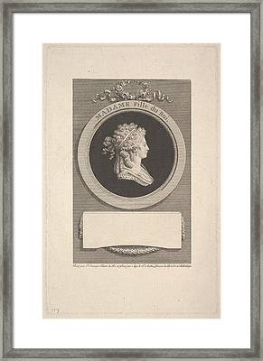 Portrait Of Son Altesse Royale Madame Framed Print