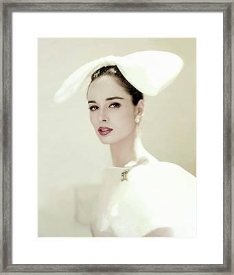 Portrait Of Sondra Peterson Framed Print by Karen Radkai