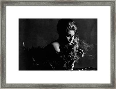 Portrait Of Sophia Loren Framed Print