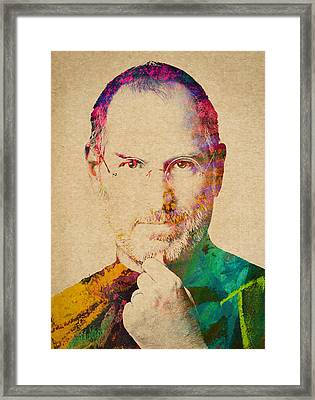 Portrait Of Steve Jobs Framed Print