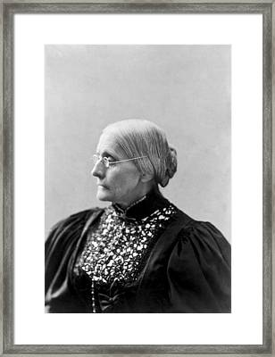 Portrait Of Susan B. Anthony Framed Print by L. Condon