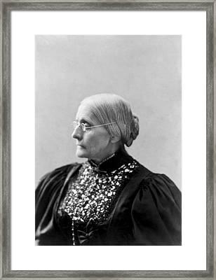 Portrait Of Susan B. Anthony Framed Print
