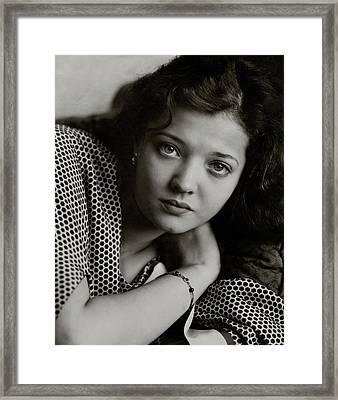 Portrait Of Sylvia Sidney Framed Print by Edward Steichen