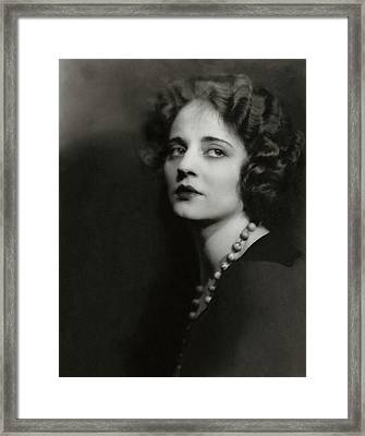 Portrait Of Tallulah Bankhead Framed Print by Maurice Goldberg