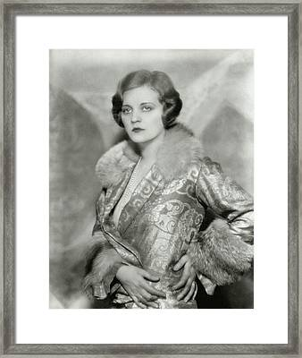 Portrait Of Tallulah Bankhead Framed Print by Nickolas Muray
