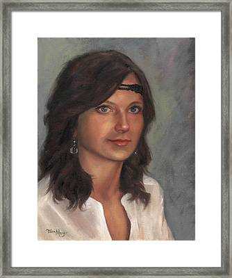 Portrait Of Taylor I Framed Print by Terri  Meyer