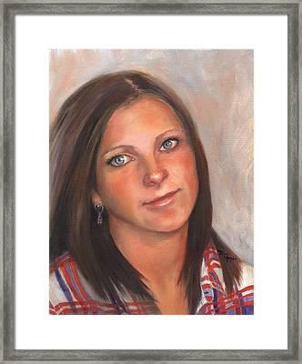 Portrait Of Taylor II Framed Print by Terri  Meyer