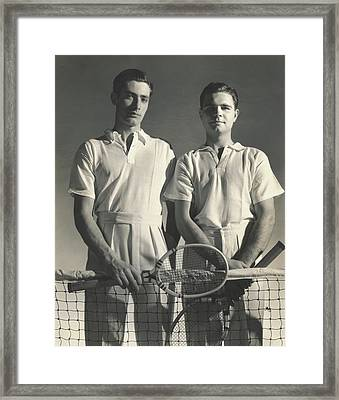 Portrait Of Tennis Players Framed Print