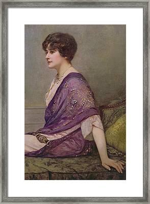 Portrait Of Th Ecourturier Madame Paquin Framed Print by Henri Gervex