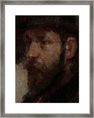 Portrait Of The Art Dealer E.j Framed Print by Litz Collection
