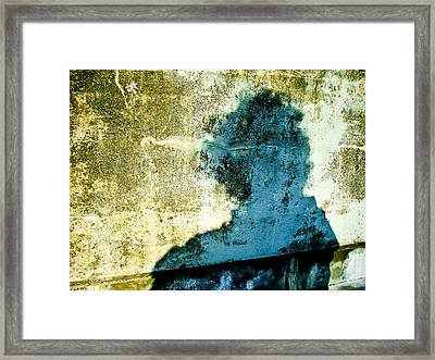 Portrait Of The Artist As Shadow 3 Framed Print by Ronda Broatch
