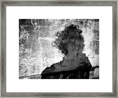 Portrait Of The Artist As Shadow 6 Framed Print by Ronda Broatch