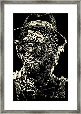 Portrait Of The Artist In A Fedora Final Stage Framed Print