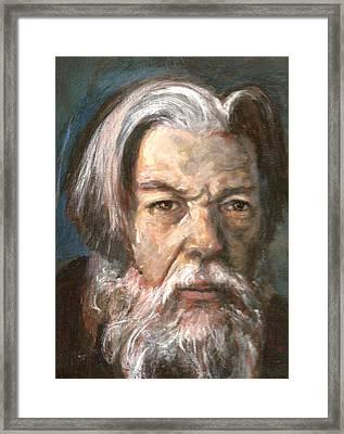 Portrait Of The Artist Framed Print