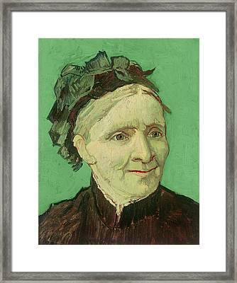 Portrait Of The Artist's Mother Framed Print by Vincent van Gogh