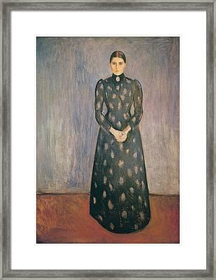 Portrait Of The Artist's Sister Inger Framed Print