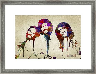Portrait Of The Bee Gees Framed Print by Aged Pixel