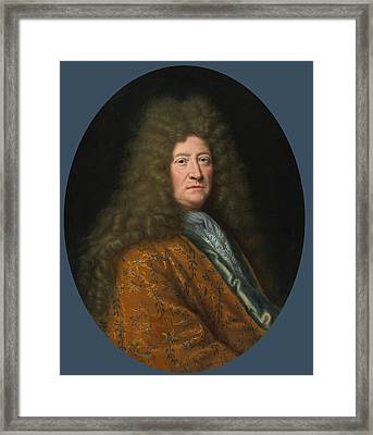 Portrait Of The Edouard Colbert Marquis De Villacerf Framed Print