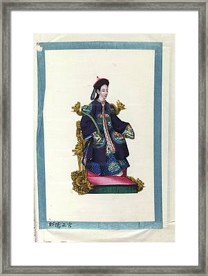 Portrait Of The Empress Framed Print by British Library