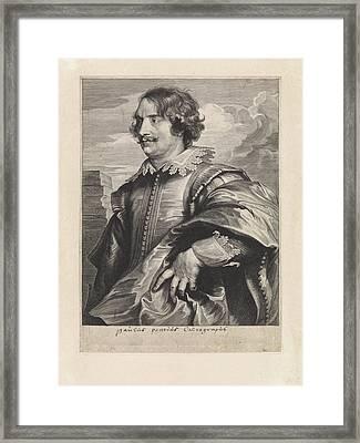 Portrait Of The Engraver Paul Pontius, Paulus Pontius Framed Print by Quint Lox