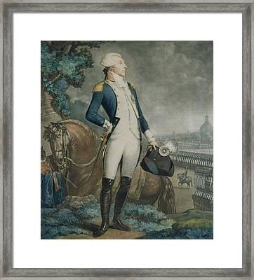 Portrait Of The Marquis De La Fayette Framed Print