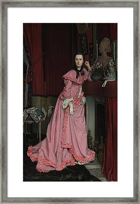 Portrait Of The Marquise De Miramon, Née Framed Print by Litz Collection