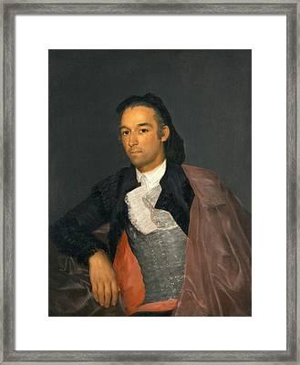 Portrait Of The Matador Pedro Romero Framed Print by Francisco Goya