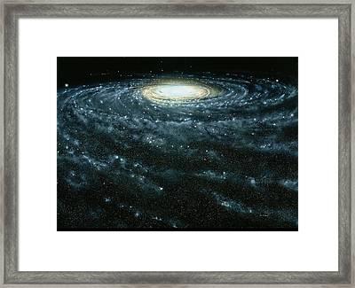 Portrait Of The Milky Way Galaxy Framed Print by Jon  Lomberg