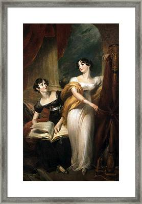 Portrait Of The Misses Leader Framed Print