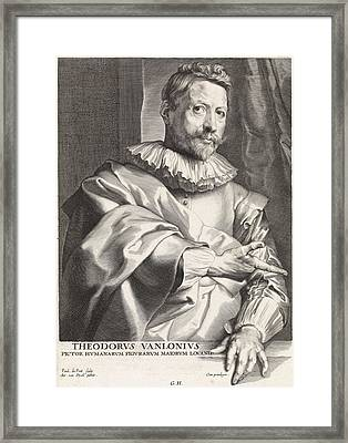 Portrait Of The Painter Theodoor Van Loon Framed Print
