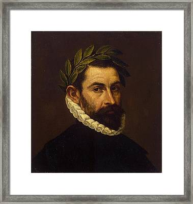 Portrait Of The Poet Alonso Ercilla Y Zuniga Framed Print