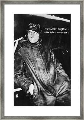 The Red Baron's Brother Framed Print by Underwood Archives