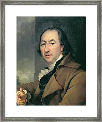 Portrait Of The Russian Author Nikolai Ivanovich Novikov, 1797 Framed Print by Dmitri Grigor'evich Levitsky
