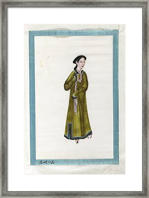 Portrait Of The Wife Of General. Framed Print by British Library