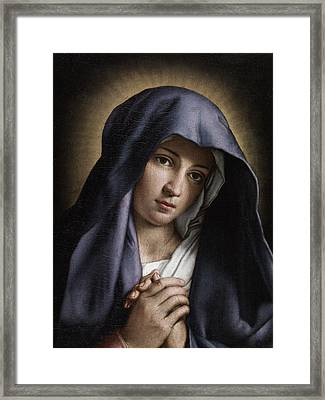 Portrait Of The Young Virgin Mary Framed Print