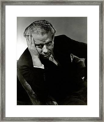 Portrait Of Theater Director Max Reinhardt Framed Print