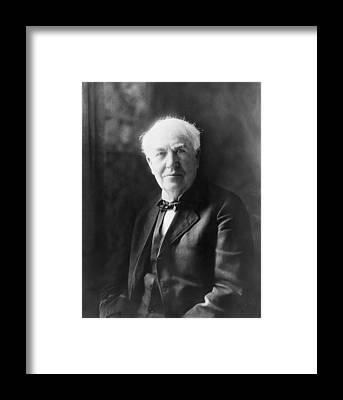 Edison Framed Prints