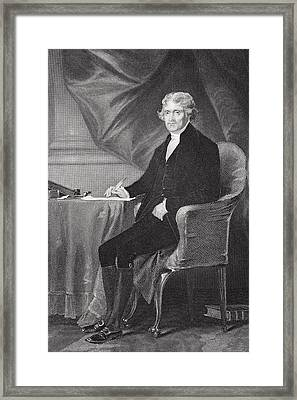 Portrait Of Thomas Jefferson Framed Print