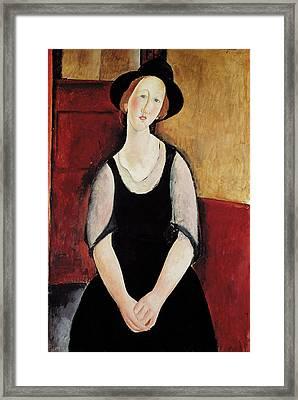 Portrait Of Thora Klinchlowstrom Framed Print by Amedeo Modigliani