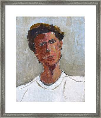 Framed Print featuring the painting Portrait Of Troy by Anita Dale Livaditis