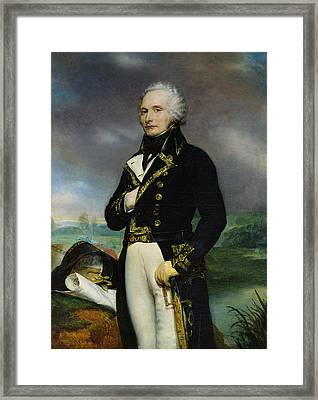 Portrait Of Viscount Alexandre-francois-marie De Beauharnais 1760-94 After A Painting By J. Guerin Framed Print by Georges Rouget