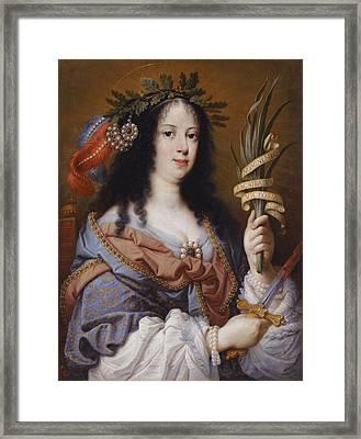 Portrait Of Vittoria Della Rovere As Saint Vittoria Framed Print by Mario Balassi