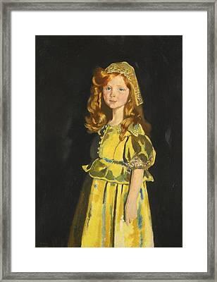 Portrait Of Vivien St George Framed Print