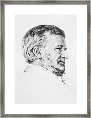 Portrait Of Wagner Framed Print