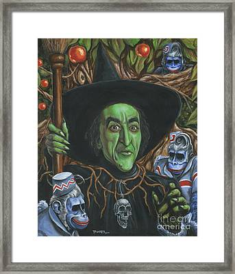 Portrait Of Wickedness Framed Print