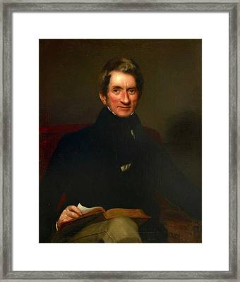 Portrait Of Wigram Money Framed Print by British Library